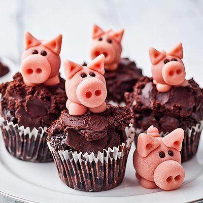 marzipan pigs cupcake nj pinterest neujahr. Black Bedroom Furniture Sets. Home Design Ideas