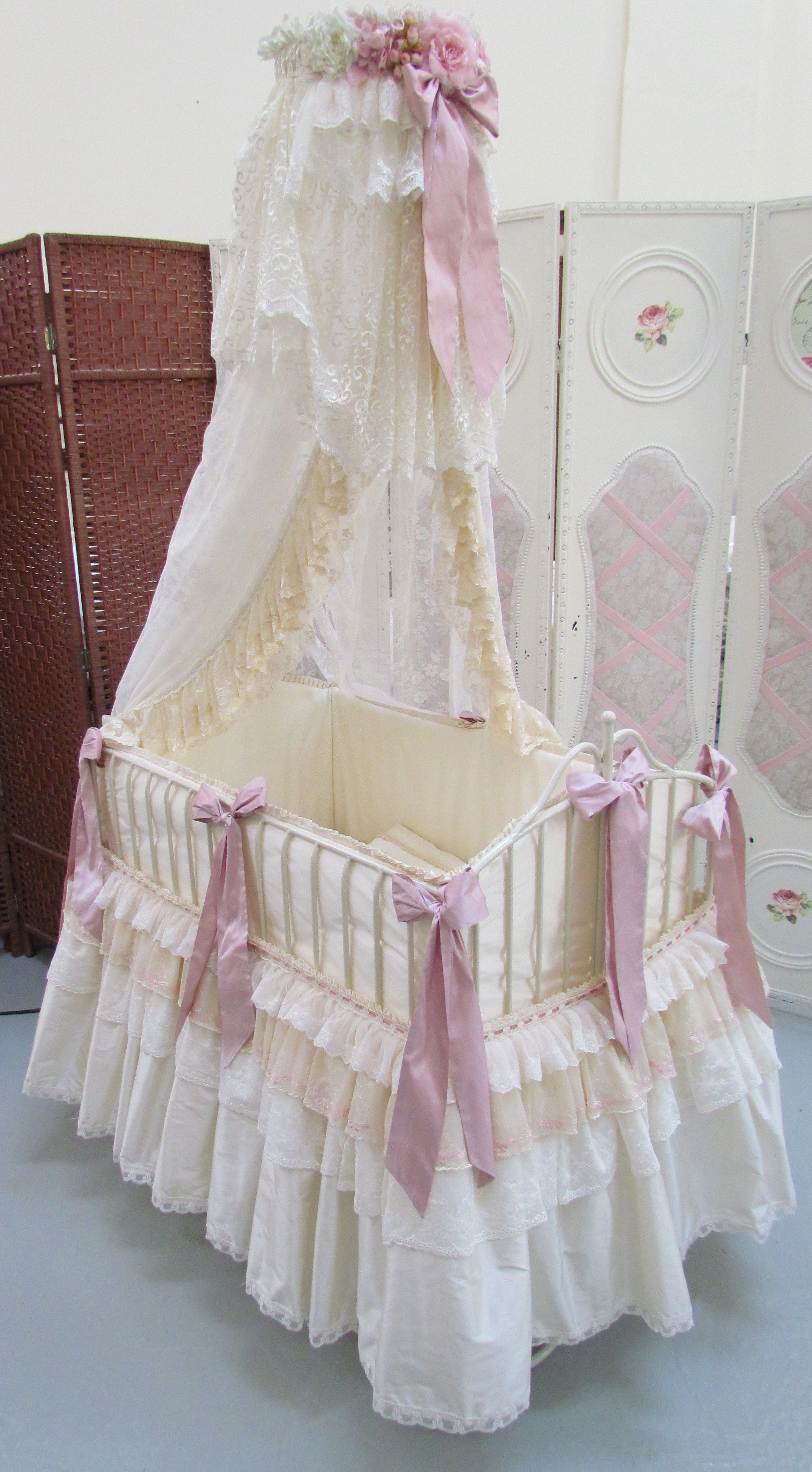 Wrought Iron Baby Bed Angela Lace Creations Baby Cribs