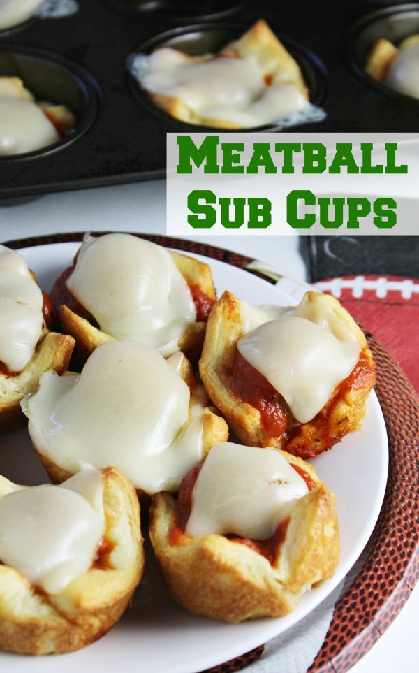 Meatball Sub Cups - The Shirley Journey