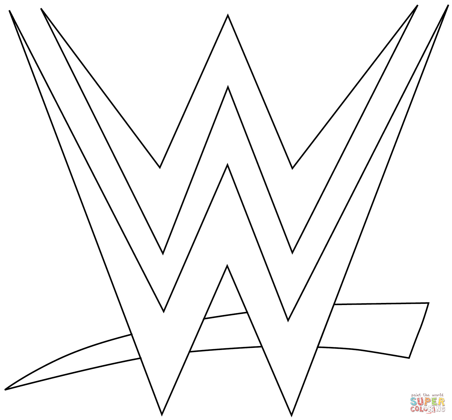 WWE Logo coloring page from WWE category. Select from 27278 ...