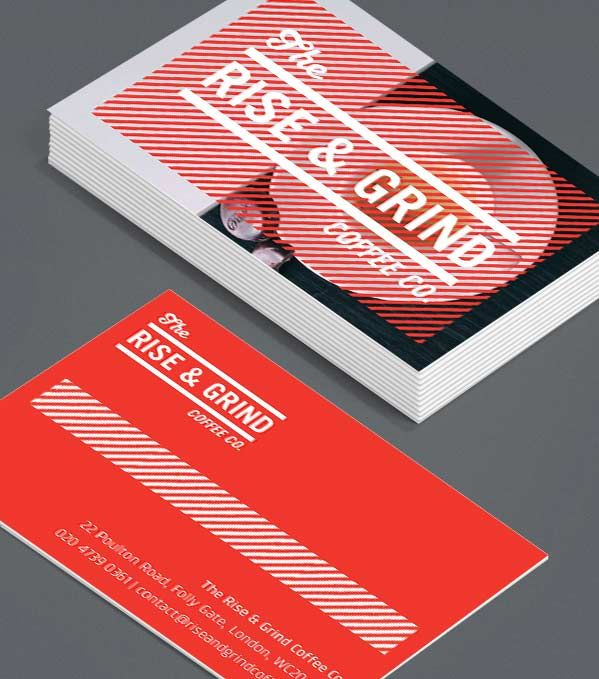 Rise and grind want an edgy look and feel the textured backdrop in business cards rise and grind want an edgy look and feel the textured backdrop in this colourmoves