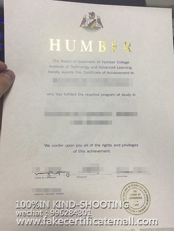 Buy a degree Humber college degree certificate-Fake Diplomas,College