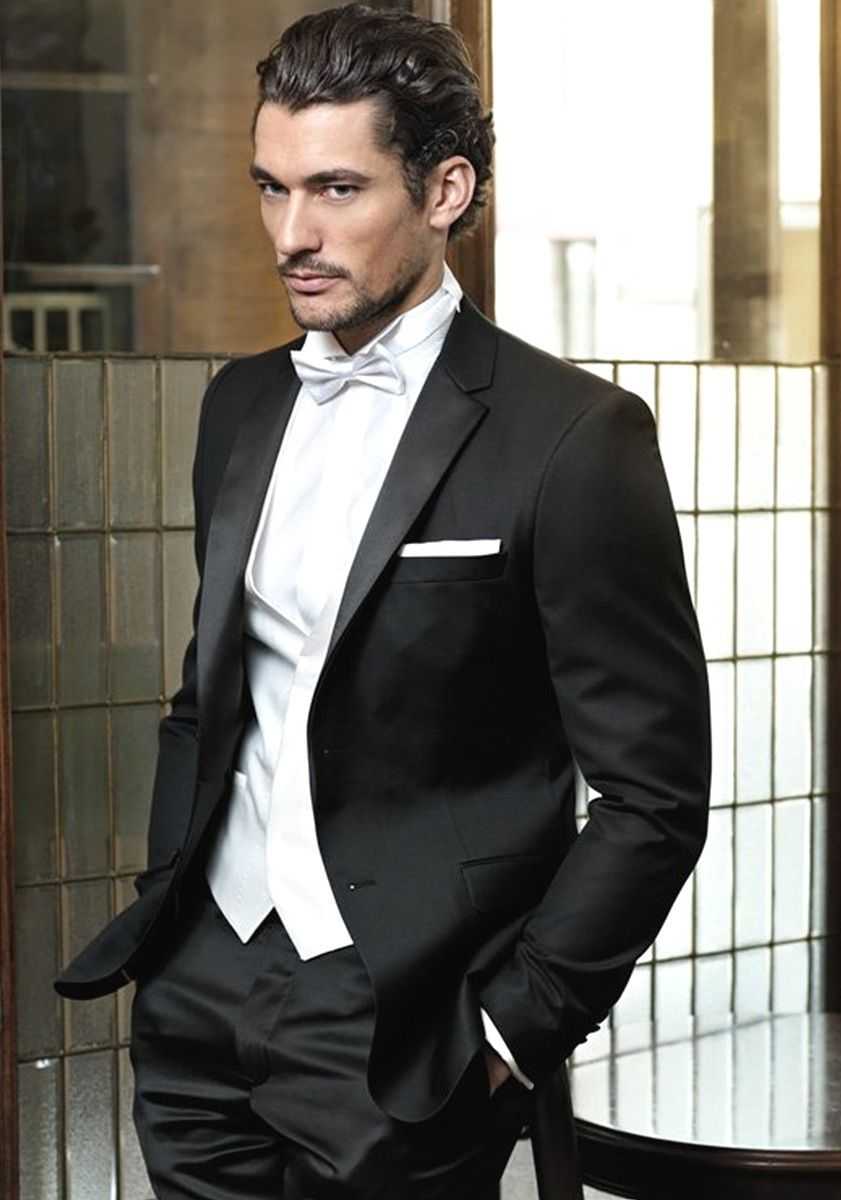 DAVID GANDY - perfect black and white tux