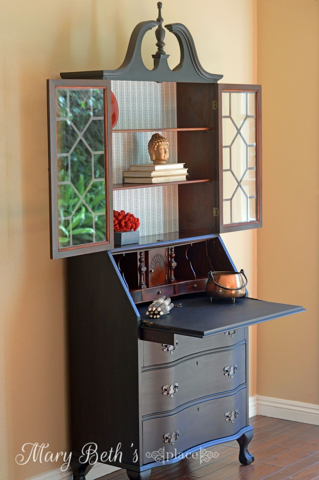 My Obsession with Secretary Desks Part Two  Living room