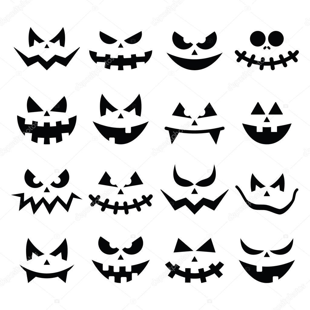 Resultado De Imagen Para Cara De Calabaza Mala Calabazas De Halloween Siluetas De Halloween Fantasmas De Halloween