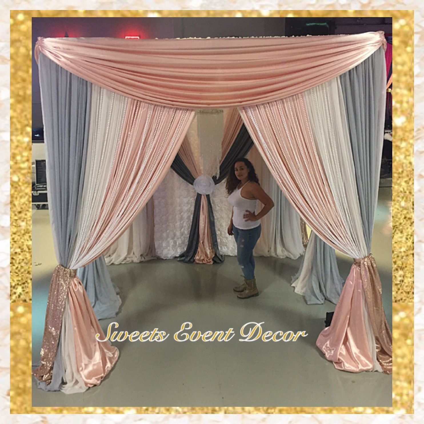 wedding canopy Wedding Canopy Decor by Sweets Event Decor Tent Draping Fabric Draping Fabric