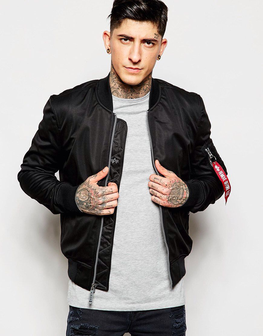 Just When I Thought I Didn T Need Something New From Asos I Kinda Do Mens Outfits Alpha Bomber Jacket Bomber Jacket Outfit [ 1110 x 870 Pixel ]