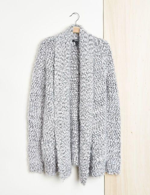 tricot gilet femme manches longues