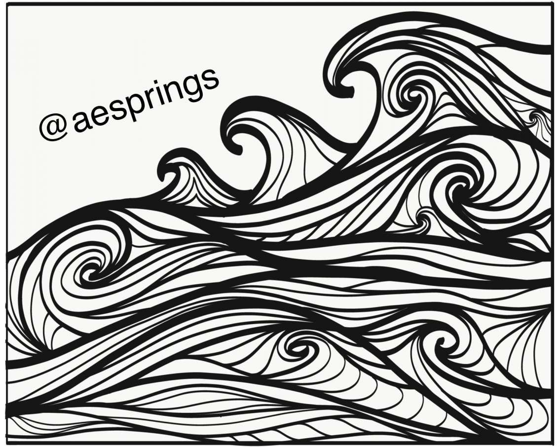 Ocean Wave Line Drawing And Waves Ocean Line Art Doodle Black White Afonso