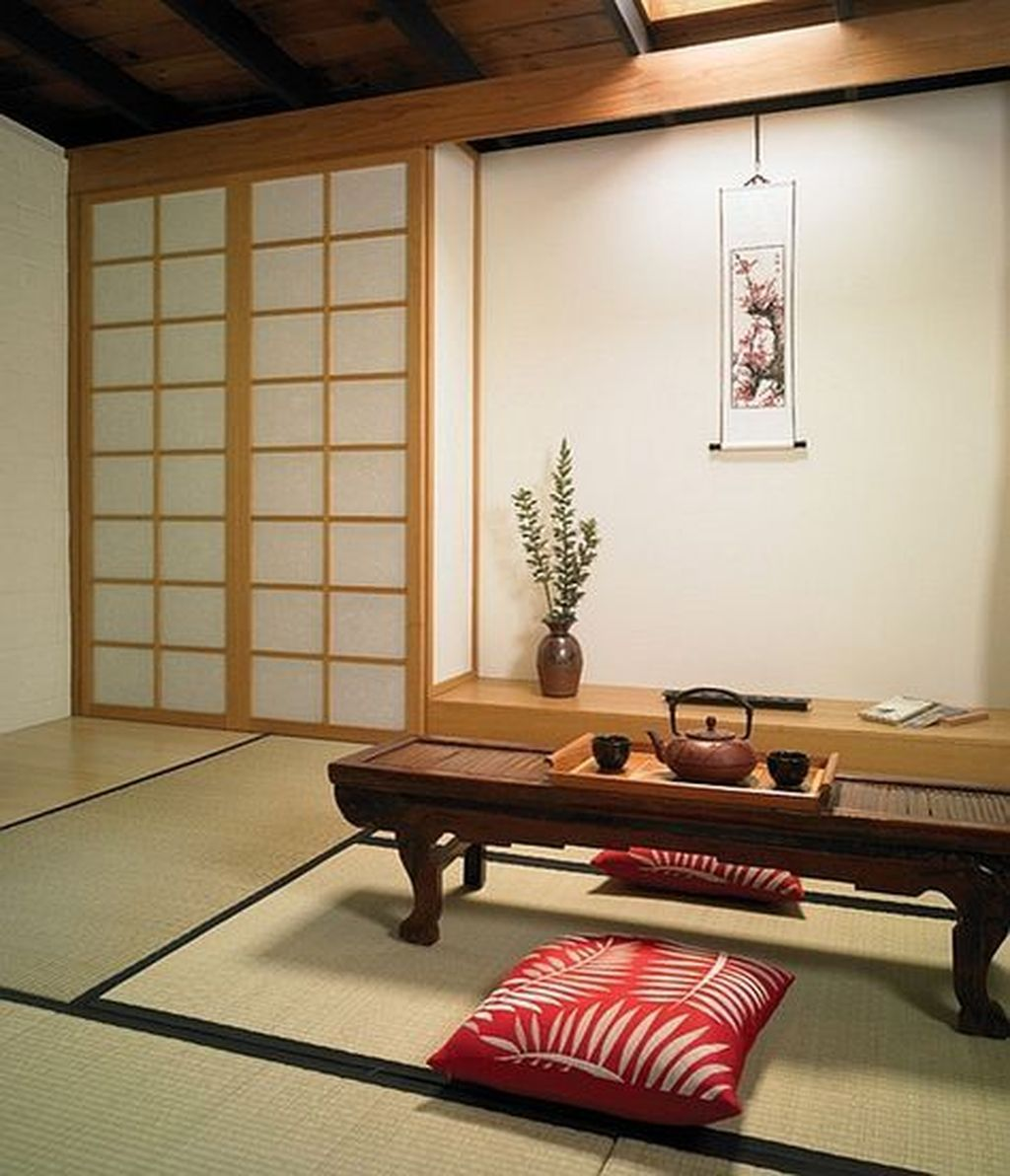 47 Relaxing Japanese Style Living Room Decoration Ideas is part of Living Room Rug 2018 - Do you long for more simplicity in your life  Is your current home decor too  busy  or mismatched to make […]