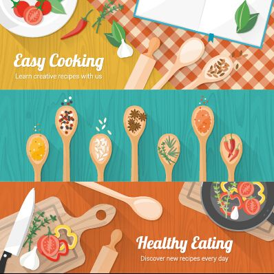 Creative Cooking Design Background Vectors 01 Accesorios De