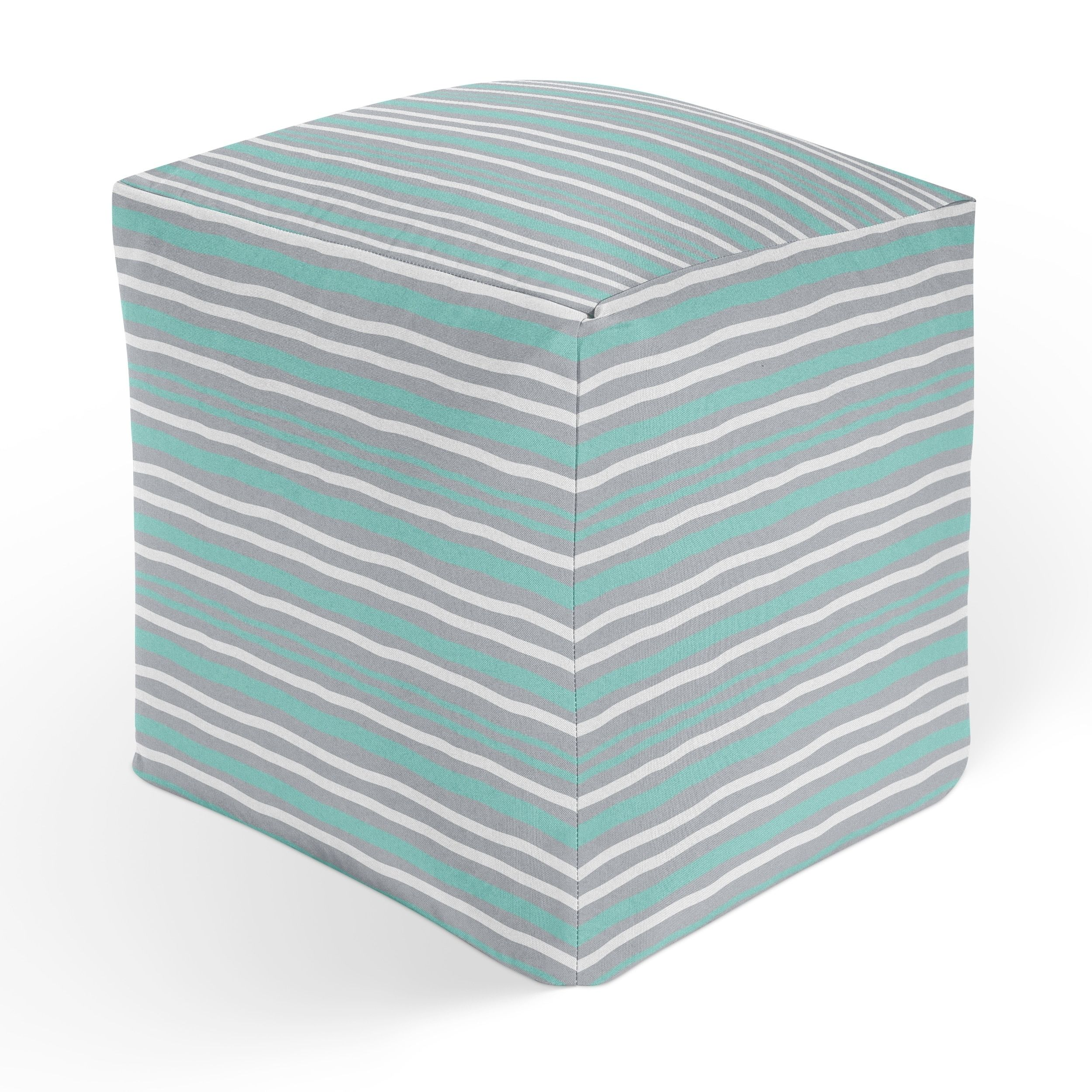 Pouf Mint Kavka Designs Tiffany Wong Rip Mint Square Pouf Square