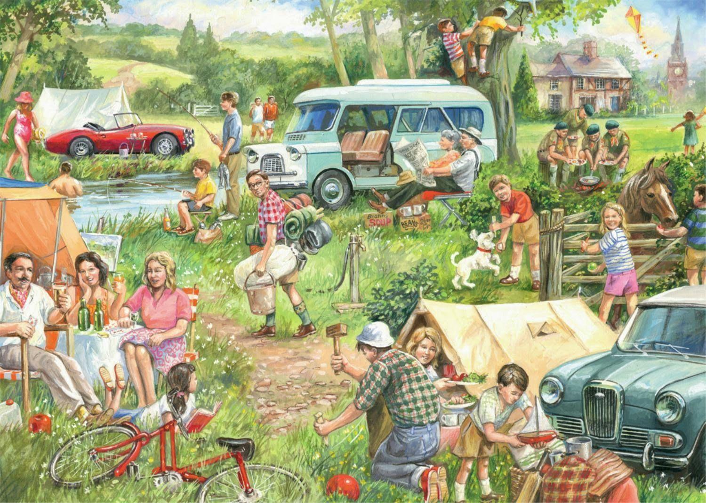 пикник рисунки отдых на природе
