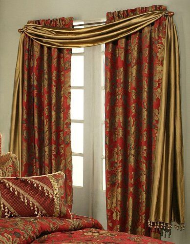 Austin Horn Classics Verona Window Panel, Red by Austin Horn Classics. $366.44. Dry clean recommended. Dimension: 84 by 56. 100-percent polyester. An luxury bedding accessory collection in red and gold, the Verona Red bed set will transform your bedroom into an elegant, opulent and luxurious getaway.