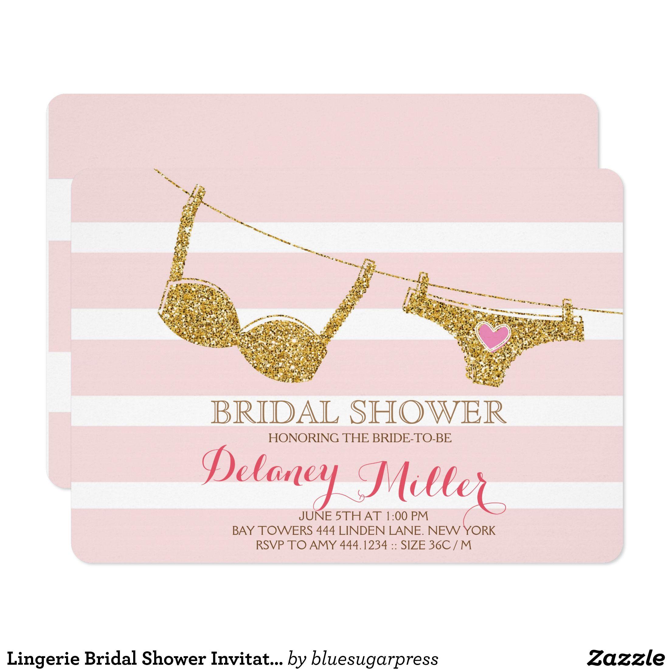 Rosa nupcial y oro de la invitación de la ducha de