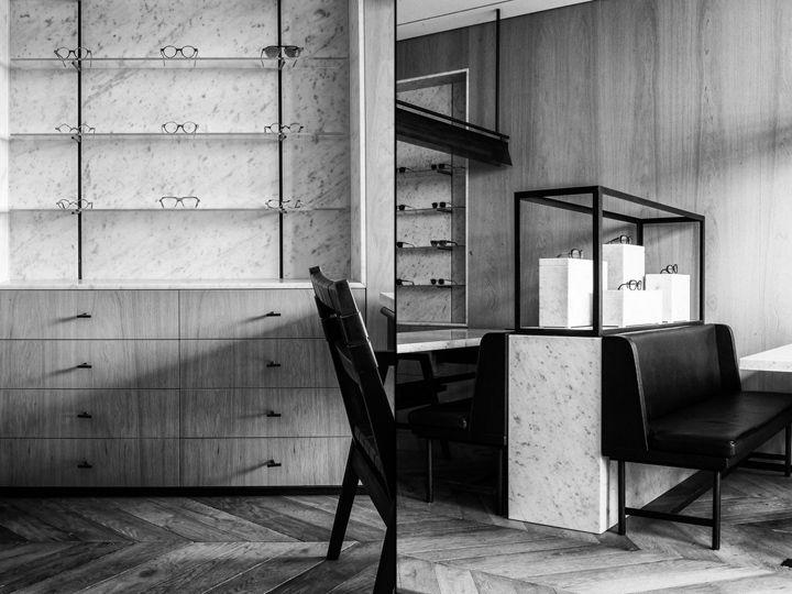 Lionel Sonkes Lunetterie by Nicolas Schuybroek Architects & Marc Merckx, Brussels eyewear store design