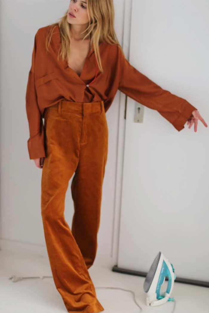 3c50a384e7c0d See how the fashion girls we love to follow are making a pair of corduroy  pants feel so cool right now.