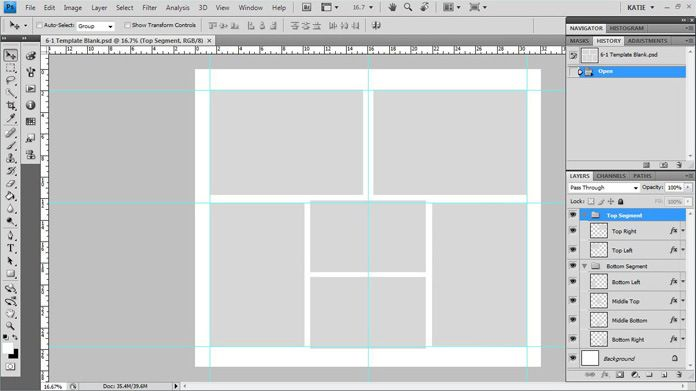 Photoshop template custom blurb photo book