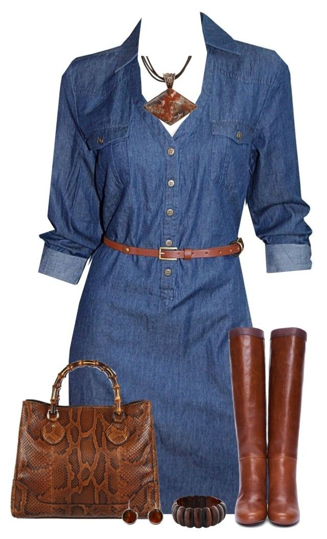 Denim Dress | Pinterest | Polyvore Clothes and Clothing