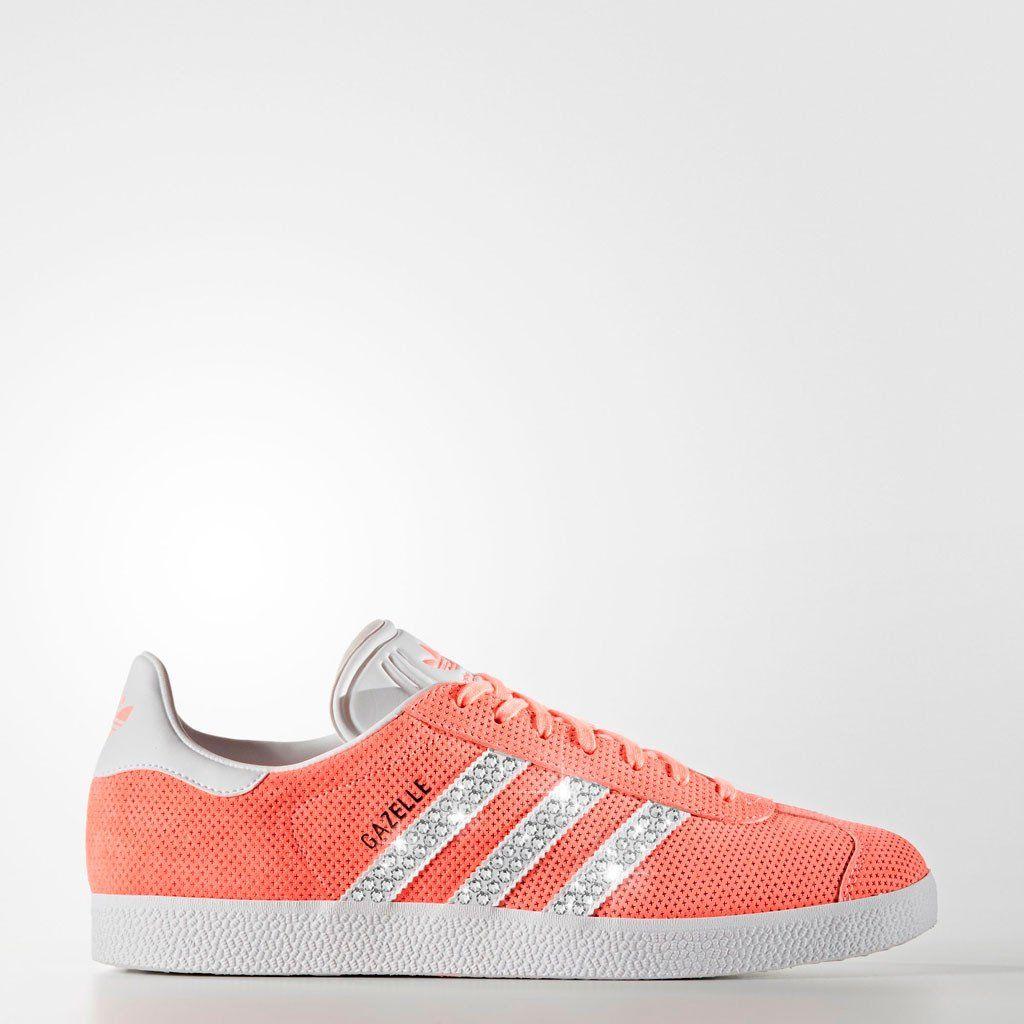 Sneaker * Adidas * Gazelle * Glitzer * apricot koralle