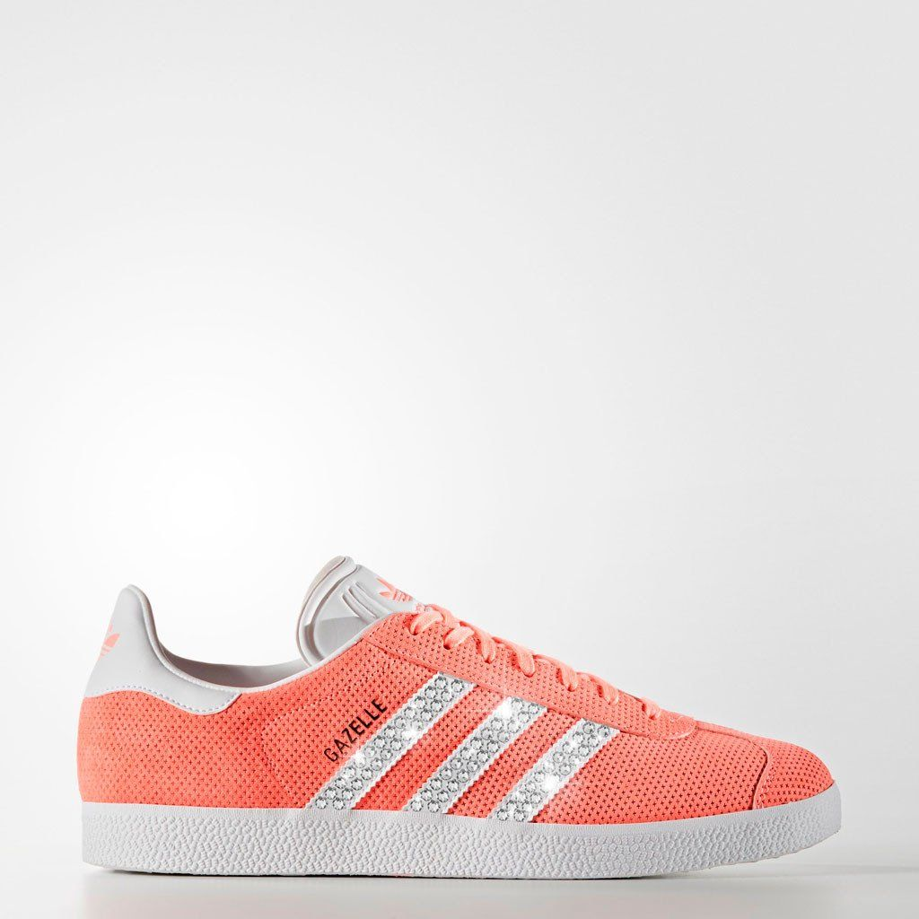 Sneaker * Adidas * Gazelle * Glitzer * apricot koralle orange * Sunny *  Glitzerkick *