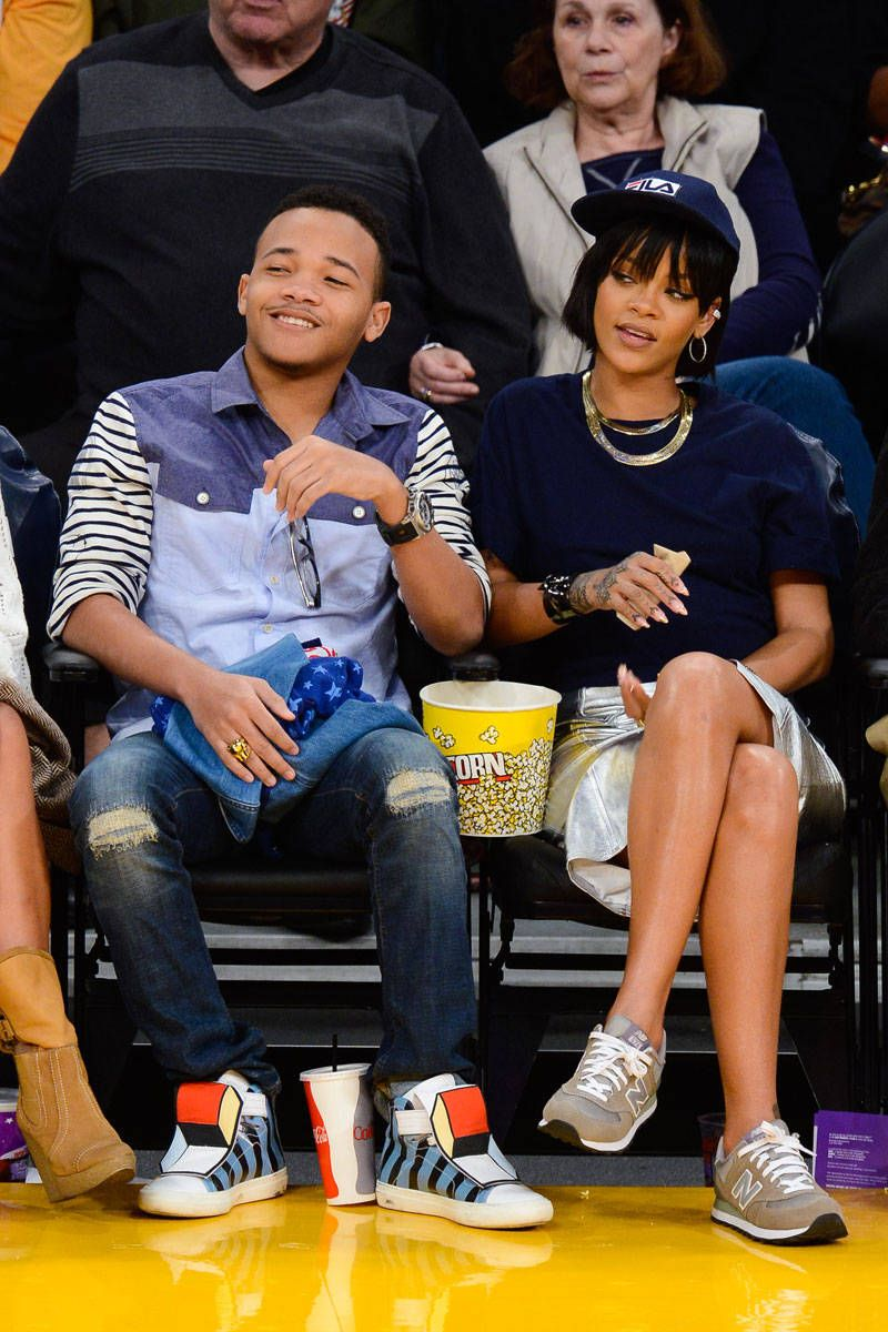 Rihanna's Courtside Style Includes Drake and Some Nike Air