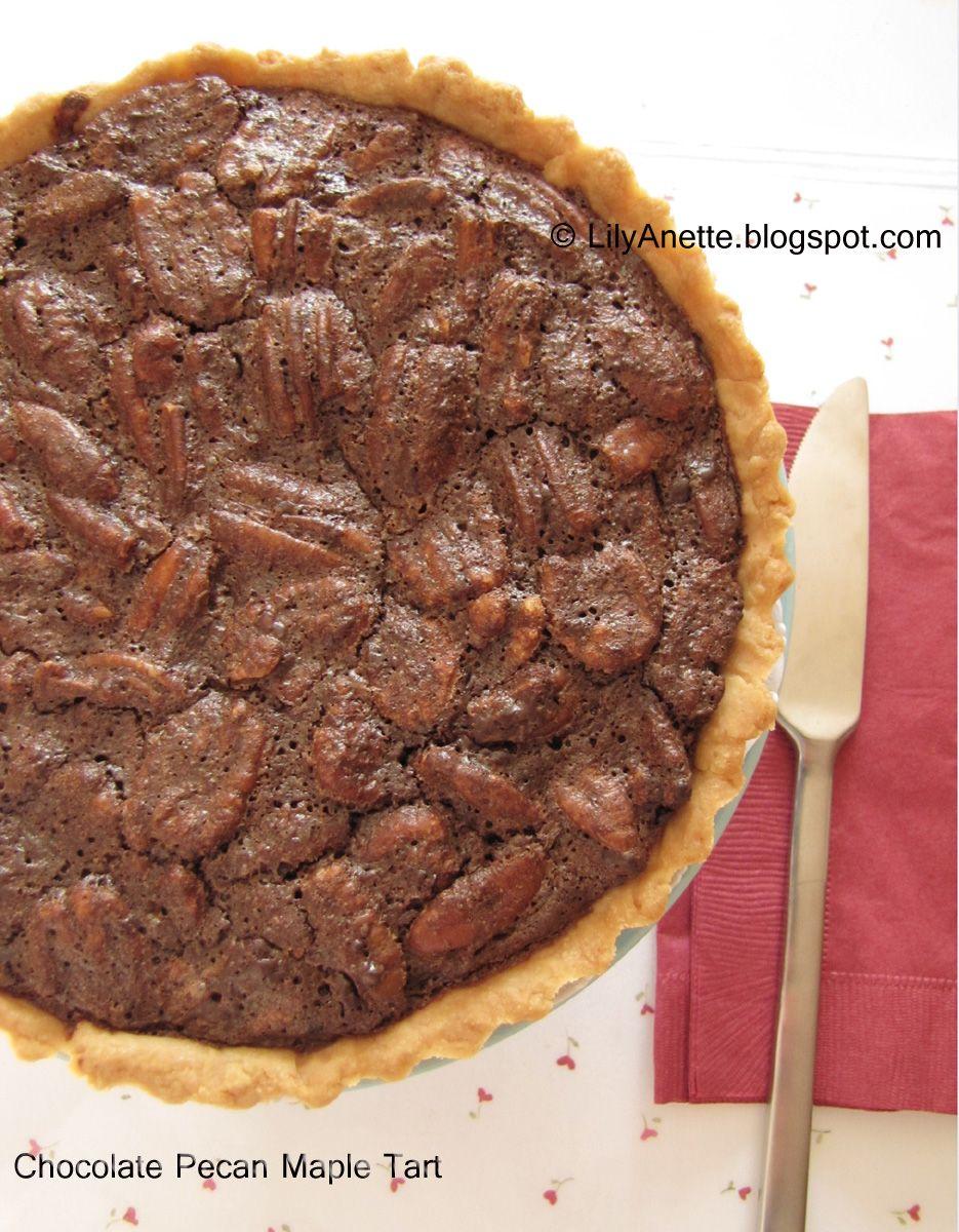 Chocolate pecan maple tart chocolate pecan maple tarts