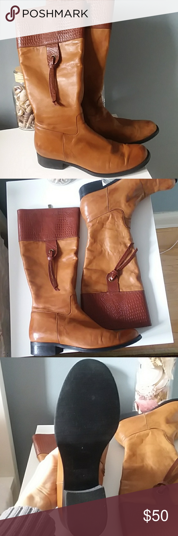 Pajar | Women leather boots Maria Pia brand by Pajar. Very good condition. Nice brick color with details. Soft and smooth leather. Very soft linning inside. Looks awsome on legs. Pajar Shoes Heeled Boots