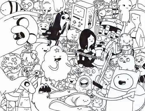 Black And White Adventure Time Artwork Xd Adventure Time