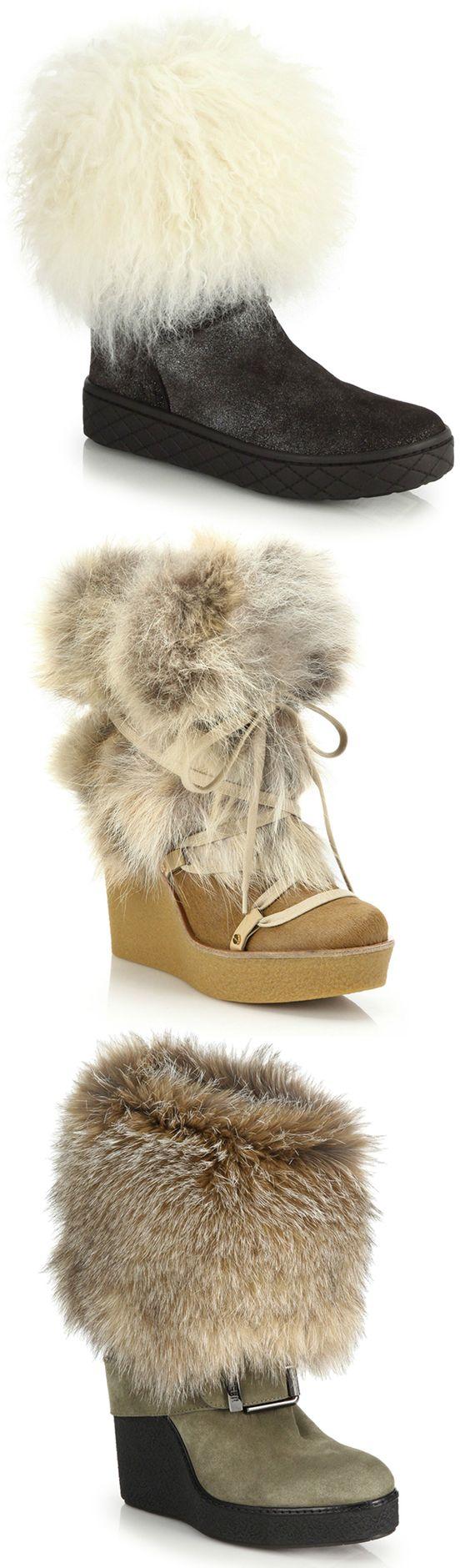 Moncler \u0026 Chloe fur boots | Boots, Shoe