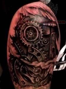 2374af369 Mechanical Gears Tattoo   Ink   Gear tattoo, Biomechanical tattoo ...