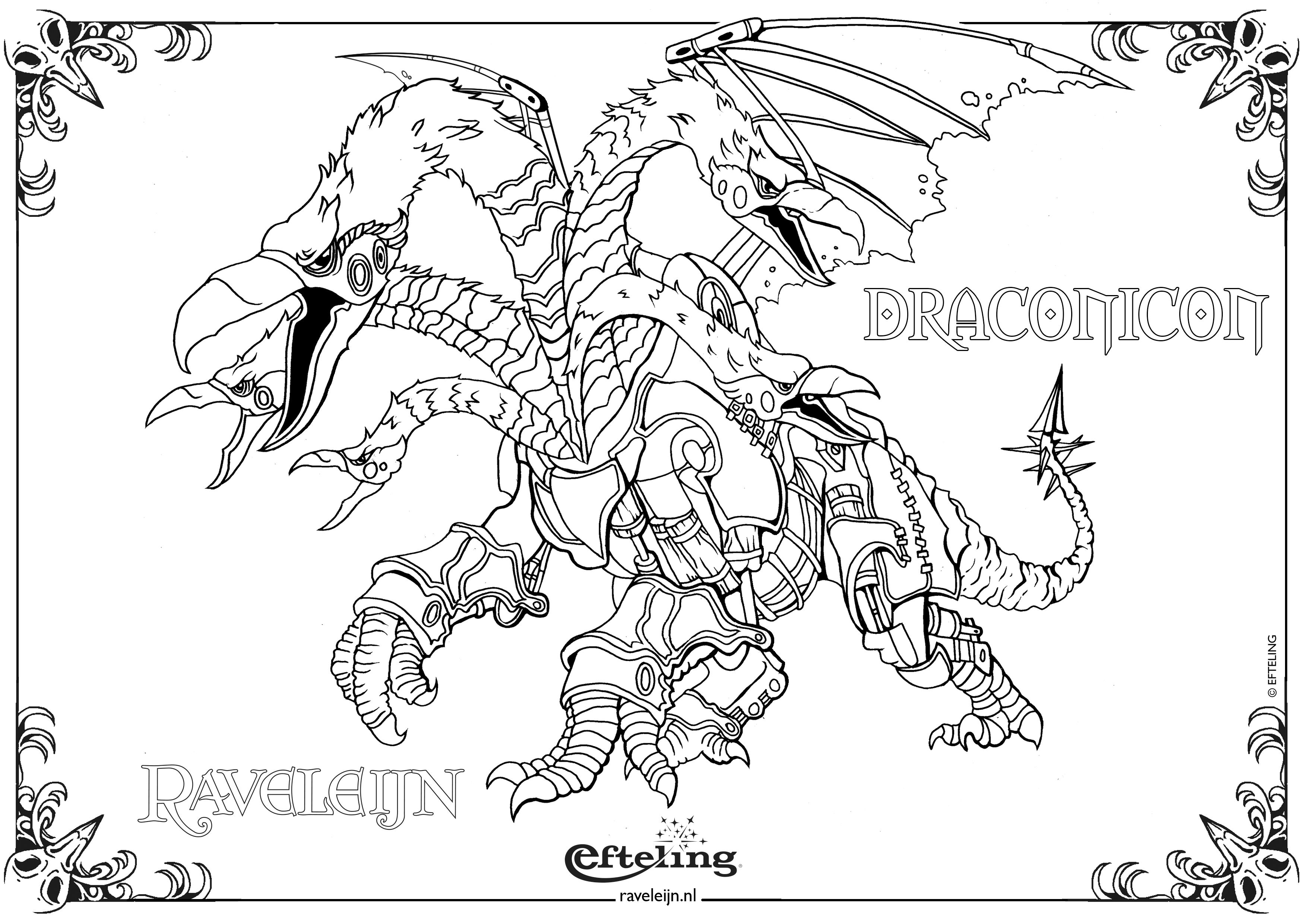 raveleijn kleurplaat draconicon coloring pages