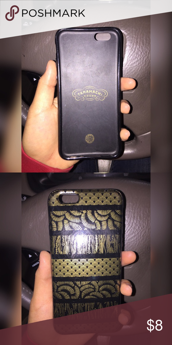Tanamachi Goods IPhone 6/6s phone case. Black and Gold Silicone phone case. Just upgraded to a IPhone 6 Plus Accessories Phone Cases