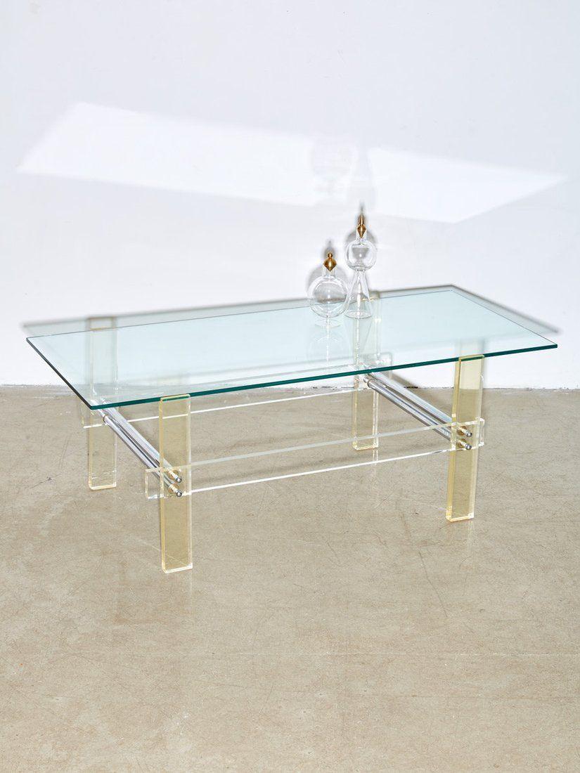 Chrome Base Glass Top Mid Century Modern Coffee Table Moveis De Metal Moveis De Ferro Decoracao Aparador [ 1500 x 1499 Pixel ]
