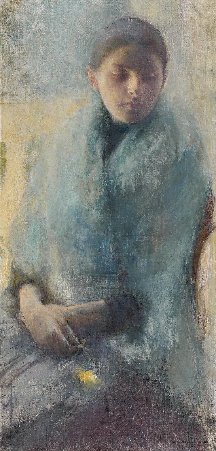 """Pascal Auguste Jean DAGNAN-BOUVERET (Paris 1852 - Quincey 1929) Jeune fille en[...], mis en vente lors de la vente """"Tableaux Anciens et du XIXème"""" à Tajan   Auction.fr"""