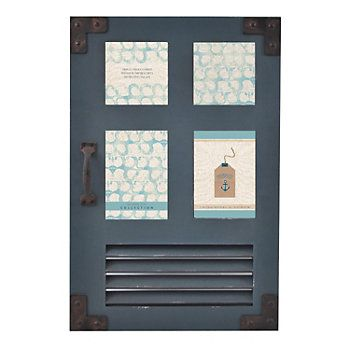 Shoreline 4-Opening Coastal Door Collage Frame