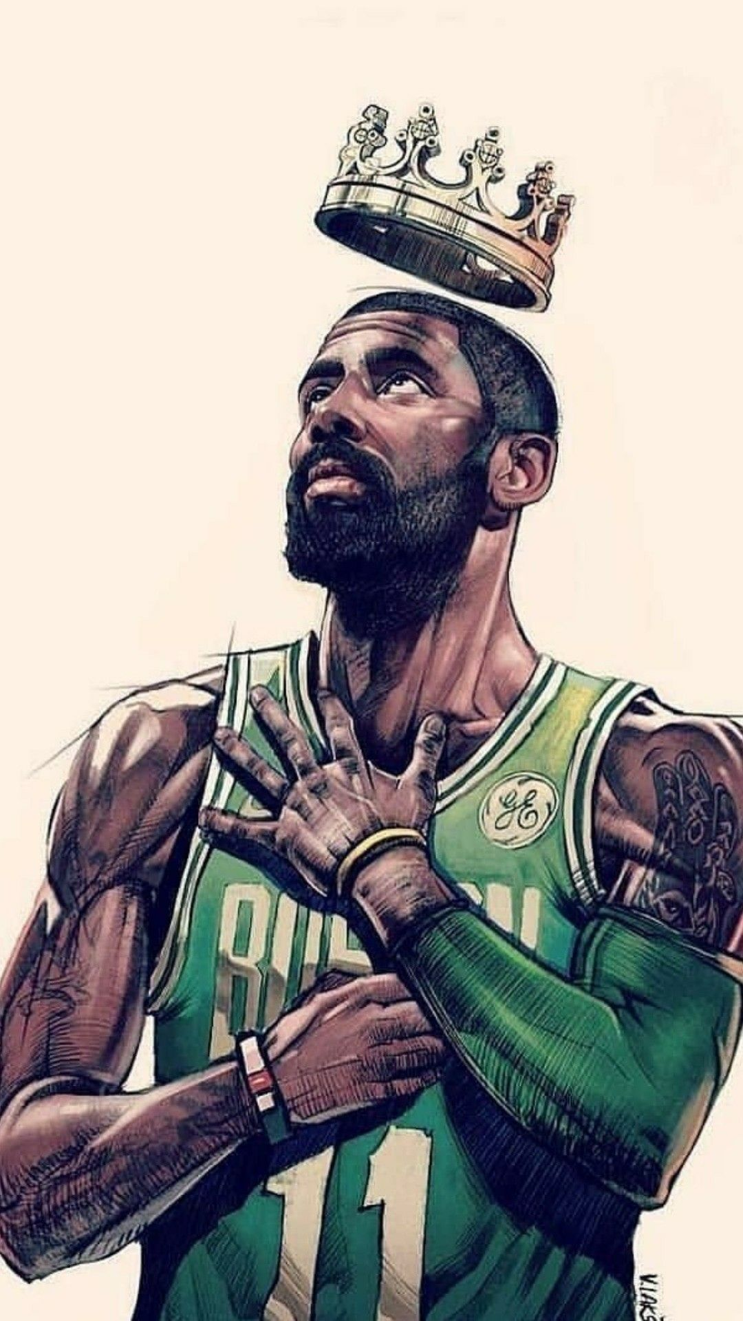 Kyrie Irving The Real King Yes No Wallpaper