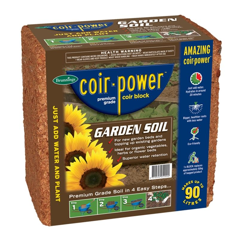Find Brunnings 90l Coir Power Garden Soil Mulch Block At Bunnings Warehouse Visit Your Local Store For The Widest Range Of Garden Produc Garden Soil Coir Soil