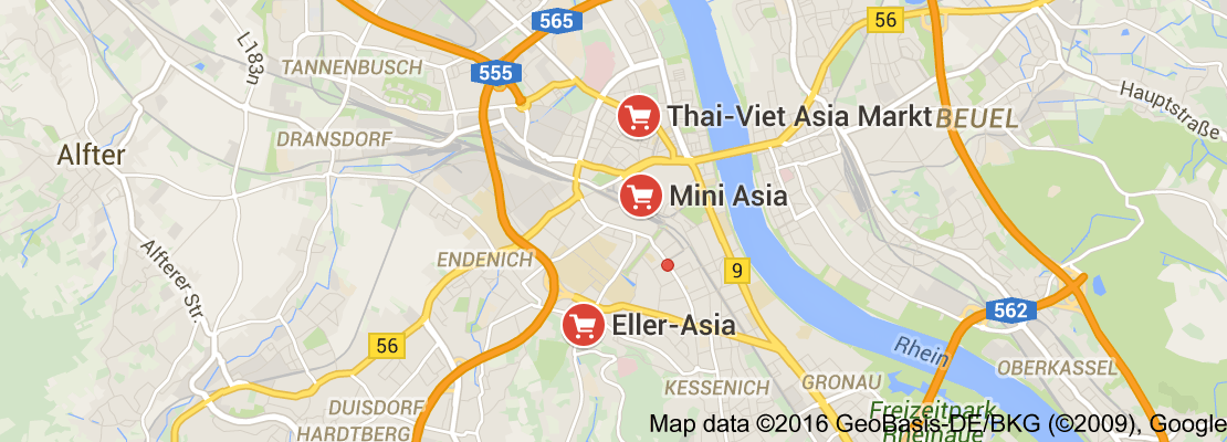 Map of asian market bonn germany Bonn germany, Map