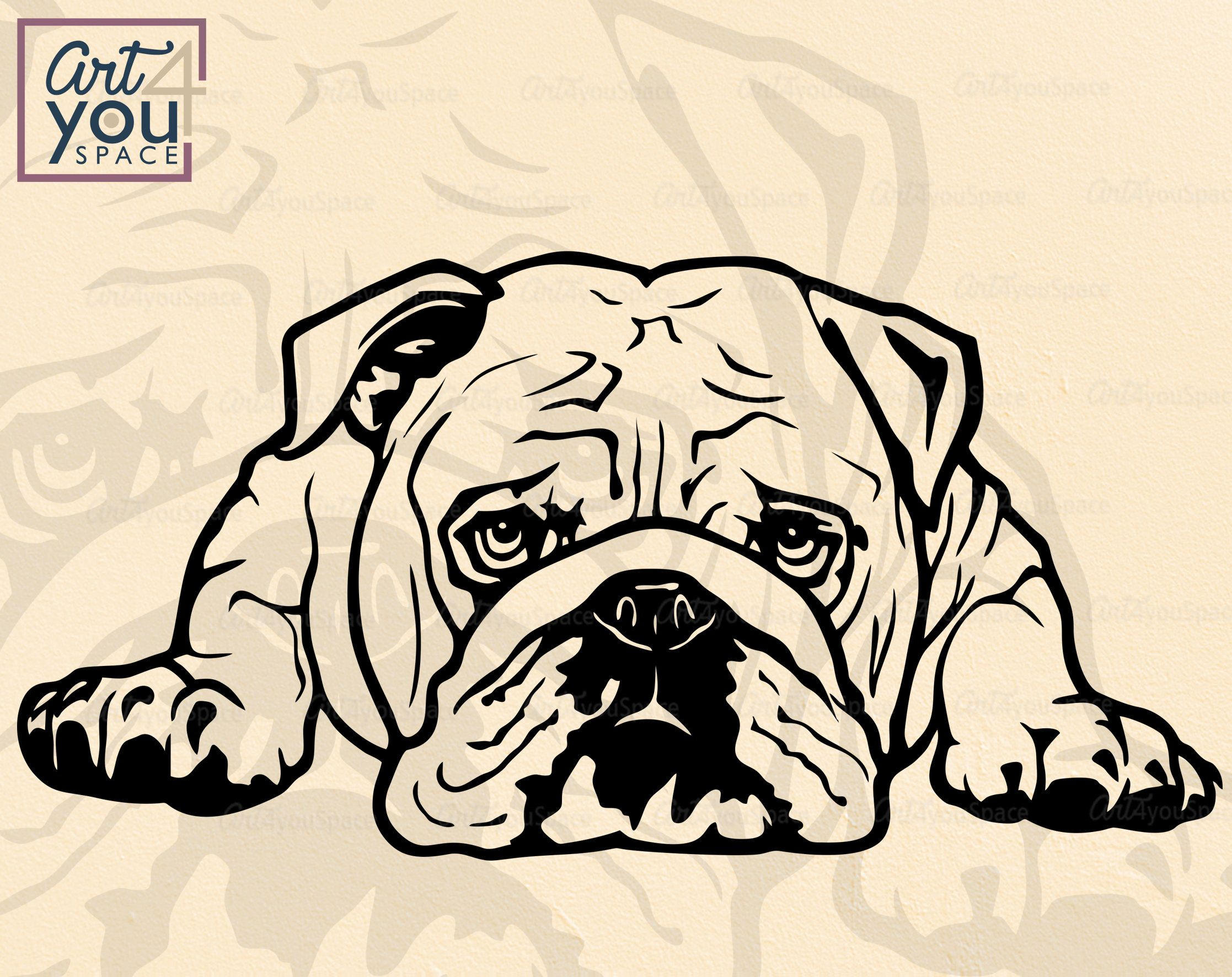 Excited To Share The Latest Addition To My Etsy Shop American Bulldog Svg Christmas Dog Svg Files For Cricut Dod S Bulldog Drawing Bulldog American Bulldog