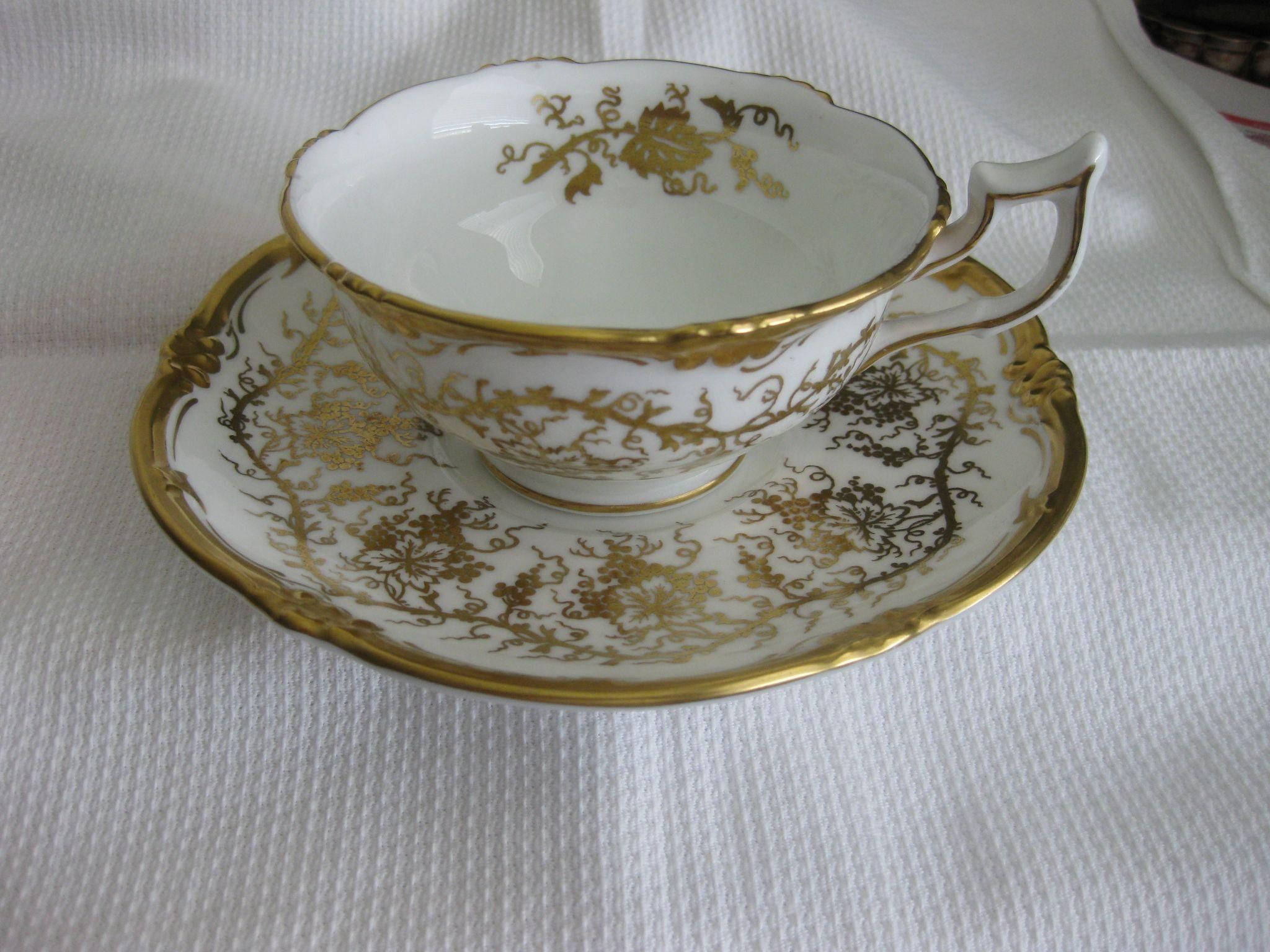 Gold Decorated Plate Pair of Royal Cauldon Bone China King/'s Plate made in England Plate