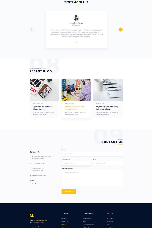 Mak Personal Portfolio & Resume WordPress Theme in 2020