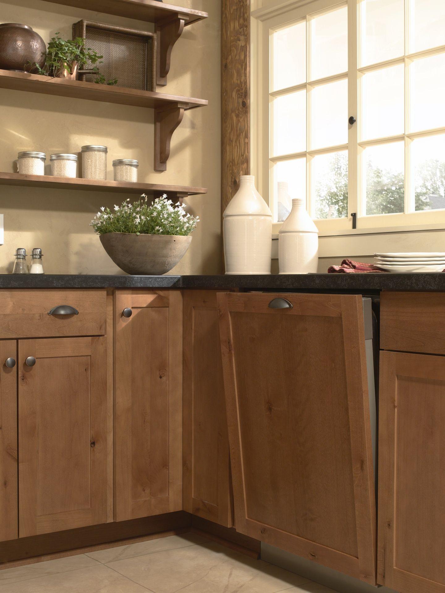 Rustic Alder Concord Harvest Kitchen Design Small Stylish Small Kitchen