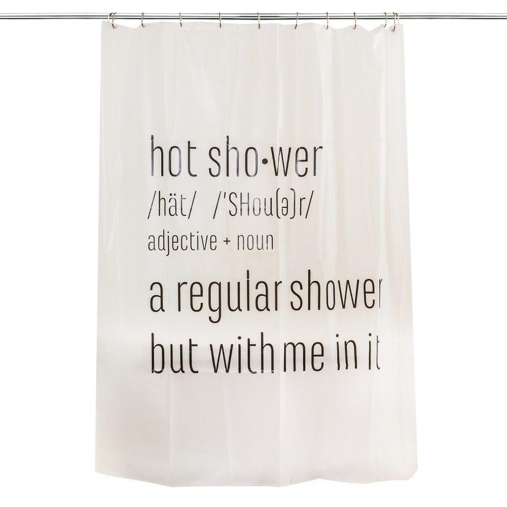 Hot Shower Curtain Black Room Essentials Frozen White Funny