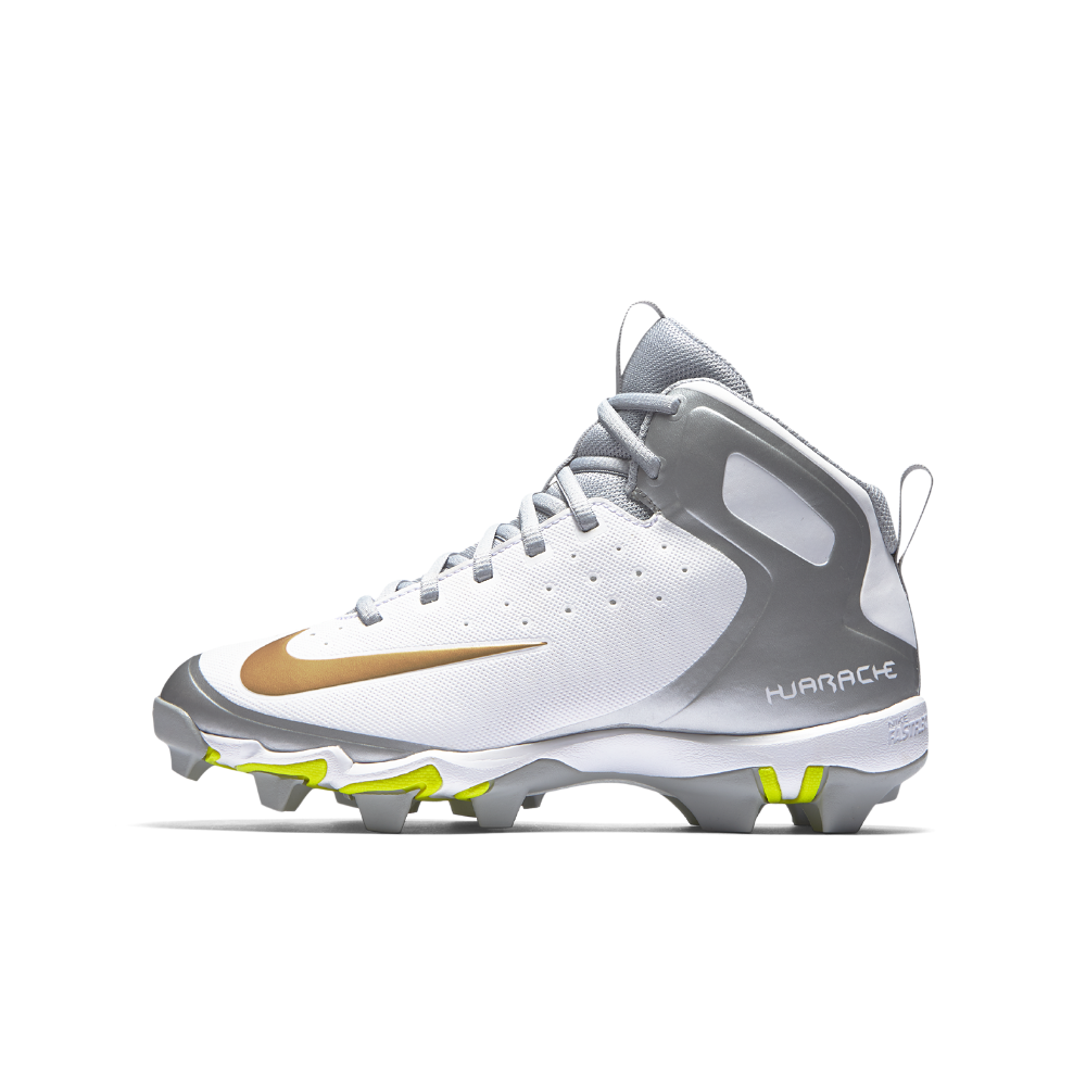 d1240c75c9d2f Nike Alpha Huarache Keystone Mid Little Big Kids  Baseball Cleats Size 3.5Y  (White)