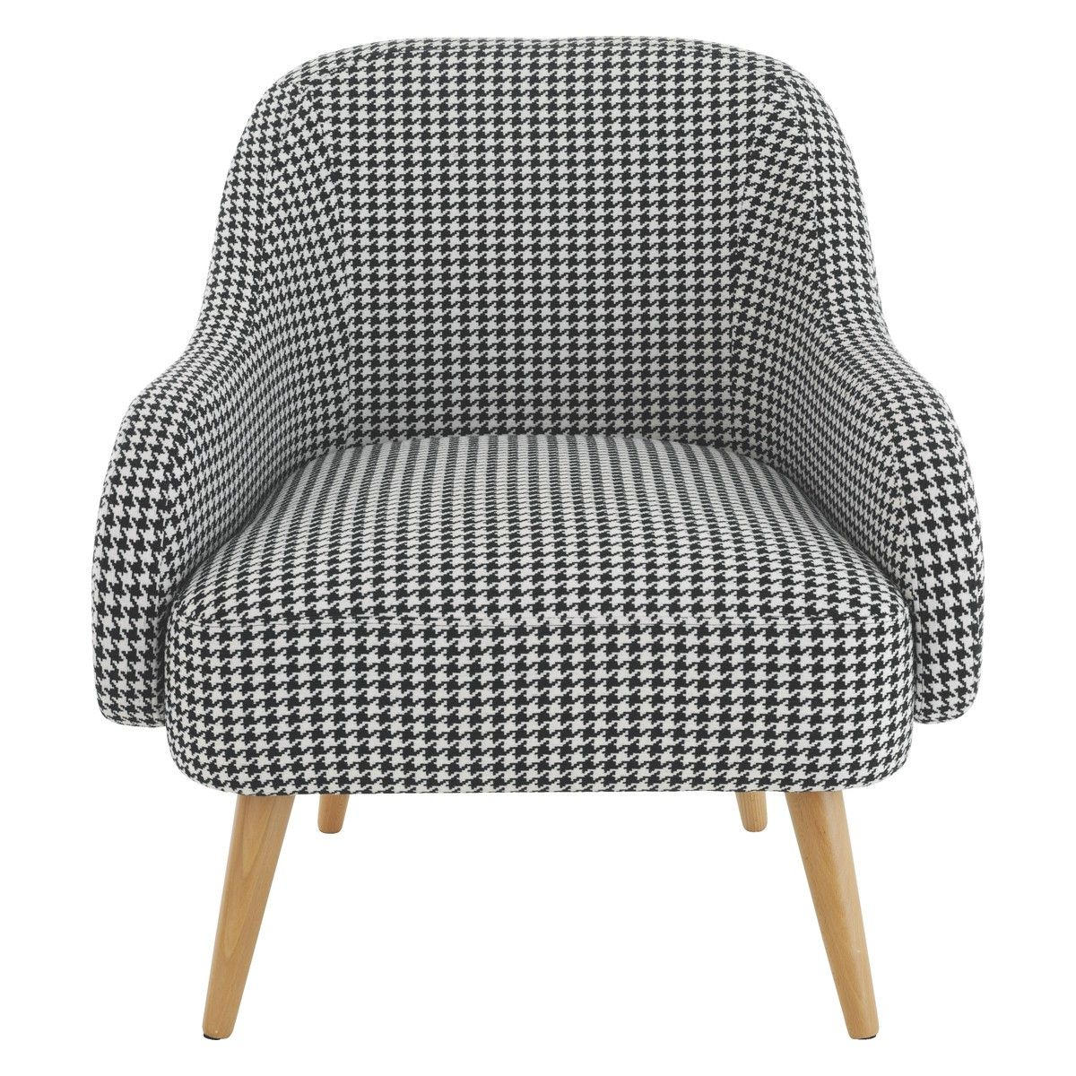 Momo Black And White Dogtooth Fabric Armchair Buy Now At Habitat