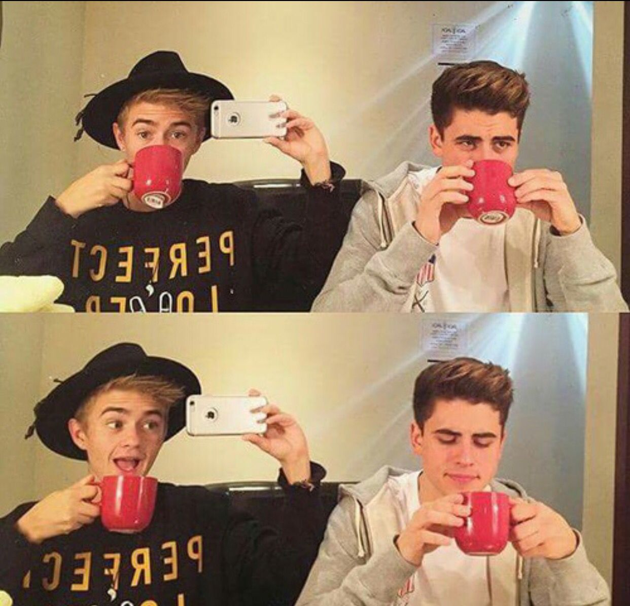 Jack & Jack staying classy with those red cups;)