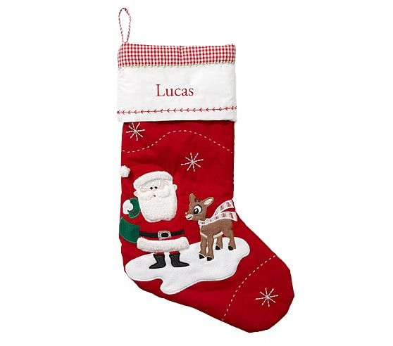Classic Quilted Stocking Collection: Quilted Christmas Stockings