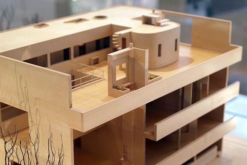 Le Corbusier Mobel Minimalist   Villa Stein De Monzie Model Rear Villas Models And Architecture