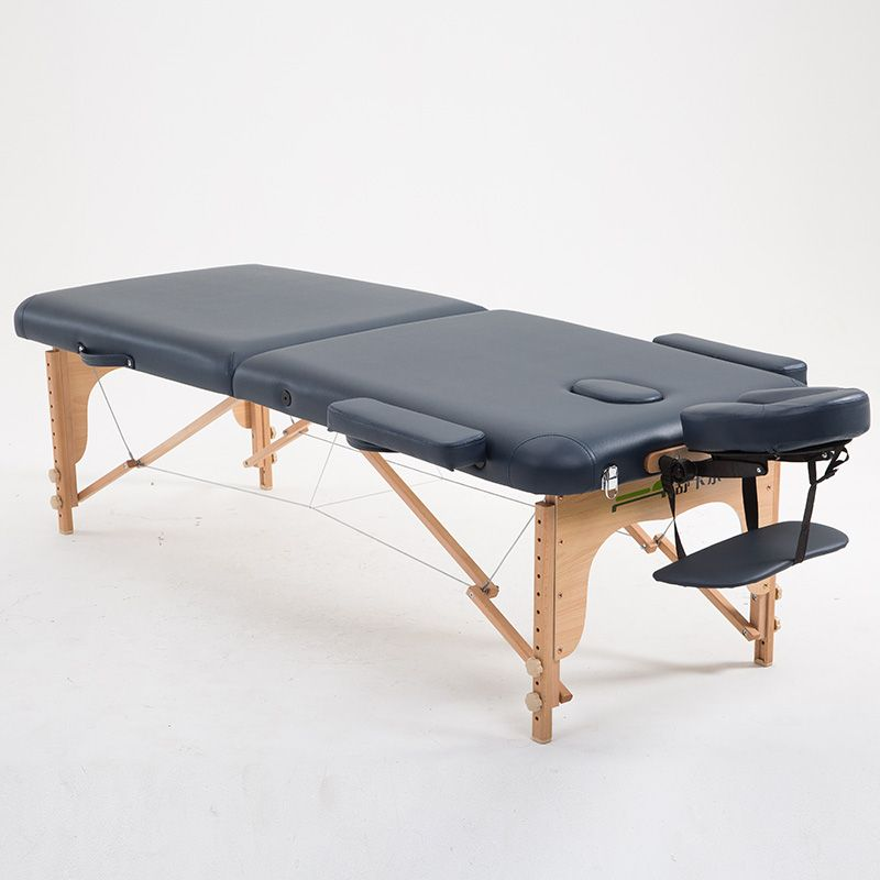 70cm Wide 2 Fold Wood Massage Table Bed W Carry Case Salon Furniture Folding Portable Thai Body Spa Massage Table Tattoo Massazhnyj Stol Salonnaya Mebel Mebel